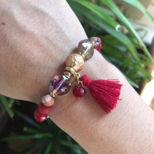 Bohemian armband met kwastje