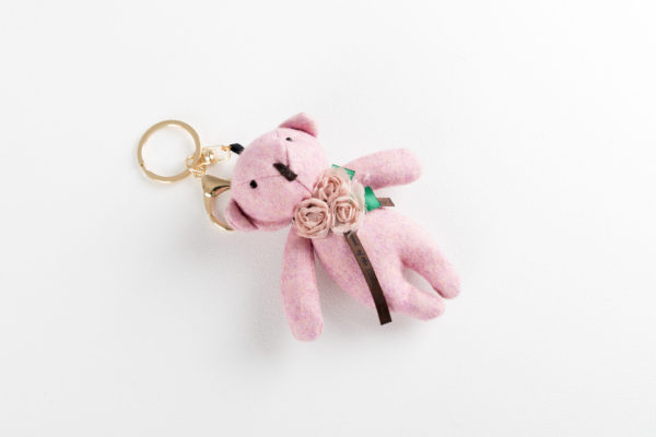 Sleutelhanger beertje roze