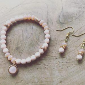 Handmade Armband en oorringen set