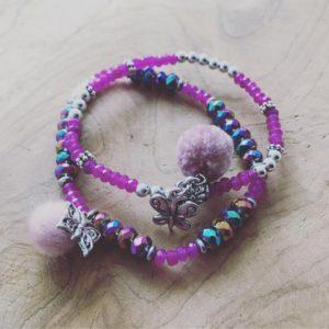 Handmade Armbanden setje met Vlinders