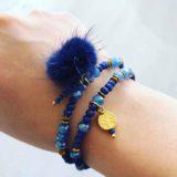 Blue Bay – Handgemaakt Setje van 2 armbanden en 1 paar oorringen