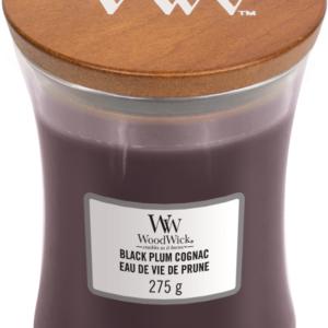 WoodWick® Medium Candle – Black Plum Cognac