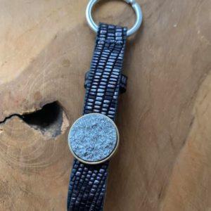 Cuoio Sleutelhanger – Black-Silver