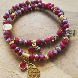 Handmade Armbanden Set – Red Love Collection