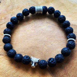 Handgemaakte armband voor Mannen – Lavastenen