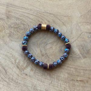Wannes – Handgemaakte armband voor Mannen – Agaat stenen.