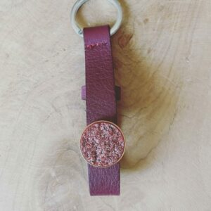 "Cuoio Sleutelhanger – ""Tawny port red"""