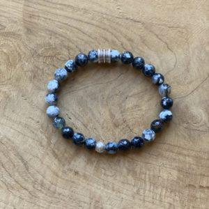 Edmond – Handgemaakte armband voor Mannen – Agaat stenen.