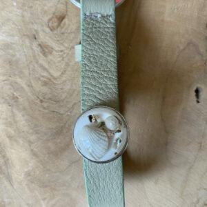 """Cuoio Sleutelhanger – """"Moss green"""""""