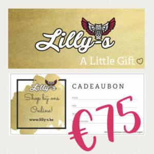 Lilly-s Cadeaubon – 75 euro