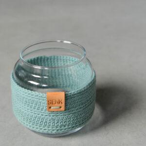 Glazen vaas Mini – Groenblauw