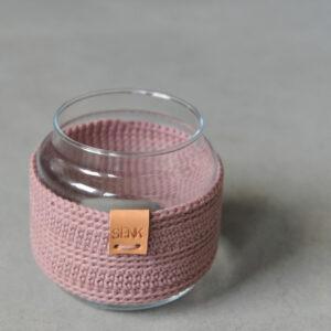 Glazen vaas Mini – Pastelaubergine