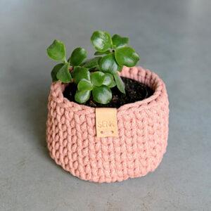 Plantenmand klein – Blush (oud roze)