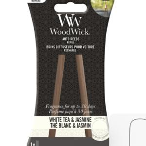 Woodwick- Auto Reeds Refill – White Tea & Jasmine