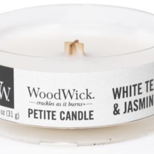 WoodWick® Petite Candle – White Tea & Jasmine