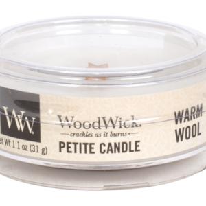 WoodWick® Petite Candle – Warm Wool
