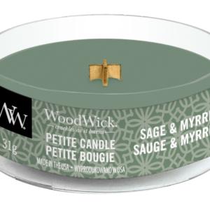 WoodWick® Petite Candle – Sage & Myrrh