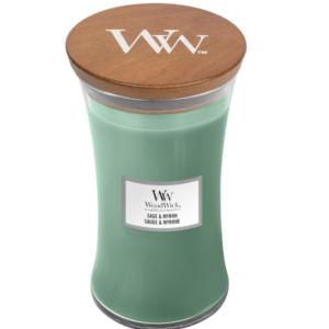 WoodWick® Large Candle – Sage & Myrrh